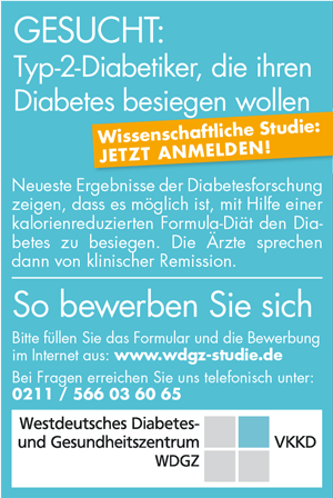 Wissenschaftliche Studie, Typ-2-Diabetiker gesucht